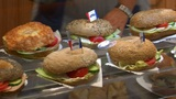 10738 german bakery fresh sanwiches pan ED Footage