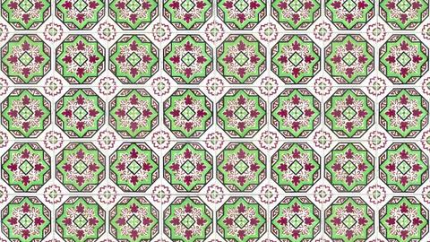 Seamless tile pattern Footage