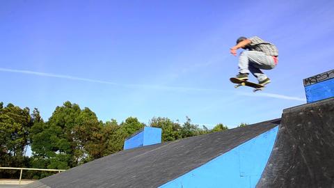 Skateboarder flying Stock Video Footage