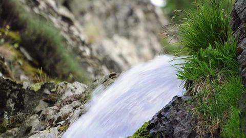 Waterfall in a forest Stock Video Footage