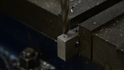Drilling in Metal Footage