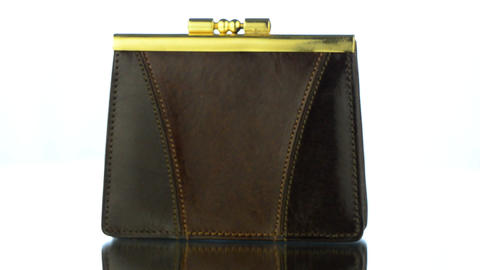 Brown Leather Purse Stock Video Footage