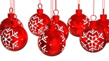 Christmas red balls. Looped background Animation