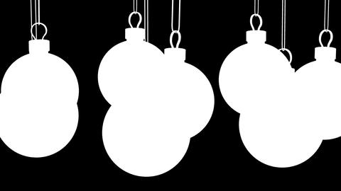 Christmas red balls. Looped background Stock Video Footage