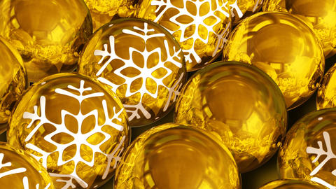 Christmas balls background. Loopable Stock Video Footage