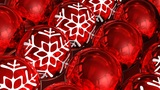Christmas balls background. Loopable Animation