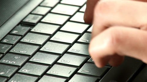 HD - Typing on laptop Stock Video Footage