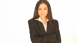 Smiling professional businesswoman Stock Video Footage