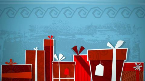 Christmas Presents Loop HD Stock Video Footage