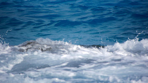 Rock and waves Stock Video Footage