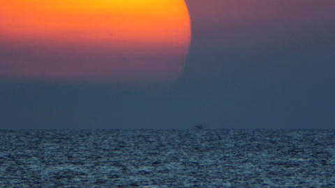 Sea sunset TL Stock Video Footage