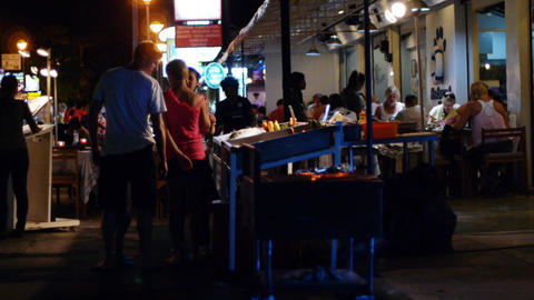 Thailand night life Stock Video Footage