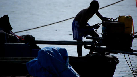 Village of fishermen Stock Video Footage