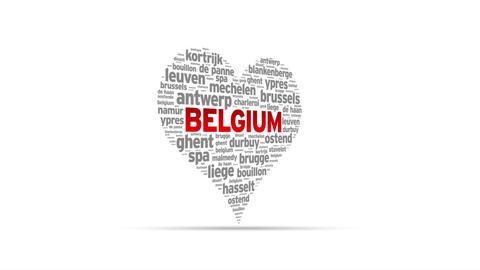 I Love Belgium Stock Video Footage