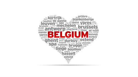 I Love Belgium Stock Video Footage