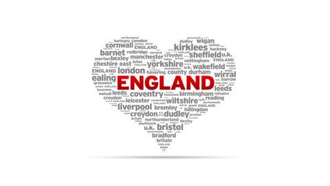 I Love England Stock Video Footage