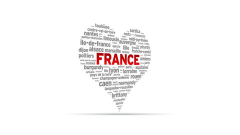 I Love France Stock Video Footage