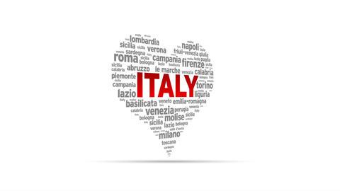 I Love Italy Stock Video Footage