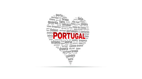 I Love Portugal Stock Video Footage