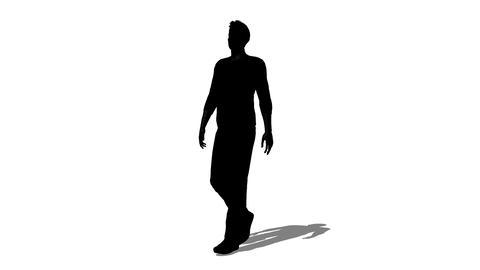 歩く男性のシルエット Animation