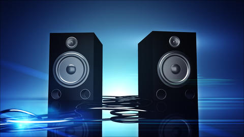 Thumping Bass Speakers Stock Video Footage