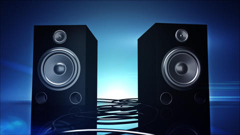Thumping Bass Speakers Footage