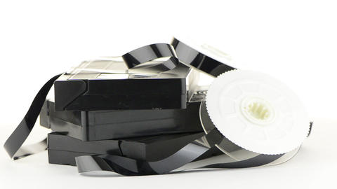 Video tapes Footage
