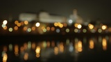 night Kremlin Embankment bokeh Footage