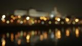 night Kremlin Embankment bokeh Footage
