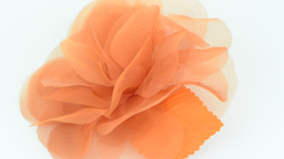 Orange fabric flower Stock Video Footage