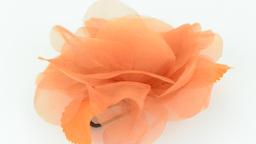 Orange fabric flower Stock Video Footage