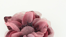 Pink fabric flower Stock Video Footage