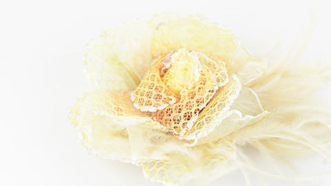 Yellow fabric flower Stock Video Footage