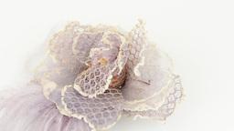 Purple fabric flower Stock Video Footage