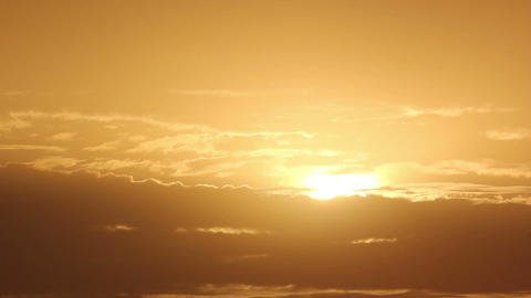 Sunrise with clouds, morning (Time Lapse) Stock Video Footage
