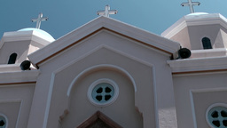 Greece the Aegean Sea Kos 043 Greek Orthodox cathedral front side Footage