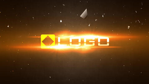 Slow Motion Fire Light Flares Shatter Logo Reveal Intro After Effects Template