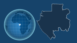 Gabon and Globe. Solids Animation