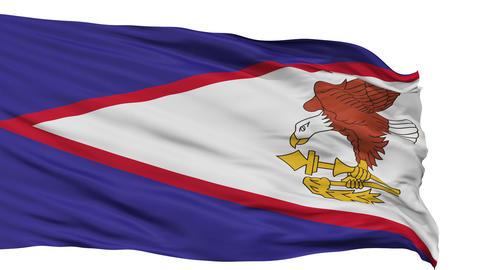 Isolated Waving National Flag of American Samoa Animation