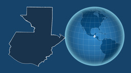 Guatemala and Globe. Solids Animation