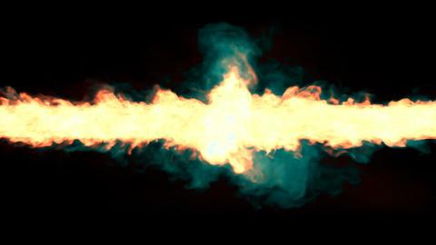 Magic fire tornado, whirlwind seamless loop Animation