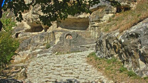 Cobblestone ancient road Filmmaterial