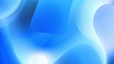 Blue abstract curves motion background seamless loop Animation