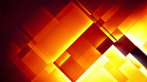 Fiery squares abstract motion background seamless loop Animación