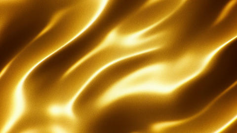 Golden wavy silk motion background seamless loop Animation