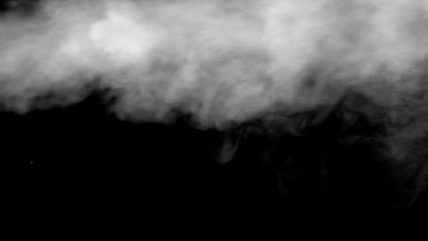 White Water Vapour on Black Background Footage