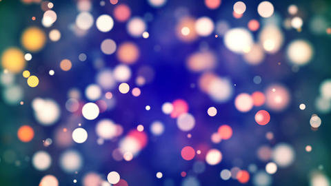 Free Footage - HD Loopable Background with nice multicolor bokeh Animation