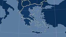 Greece and neighborhood. Solids Animation