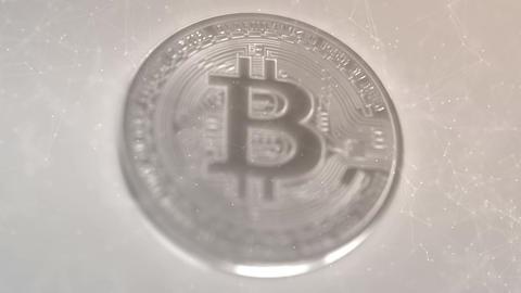 Bitcoin - BTC, abstract animation 動画素材, ムービー映像素材