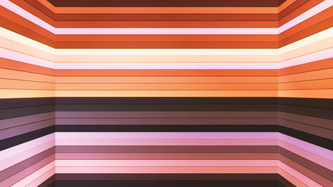 Broadcast Twinkling Horizontal Hi-Tech Bars Shaft, Brown, Abstract, Loopable, 4K Animation